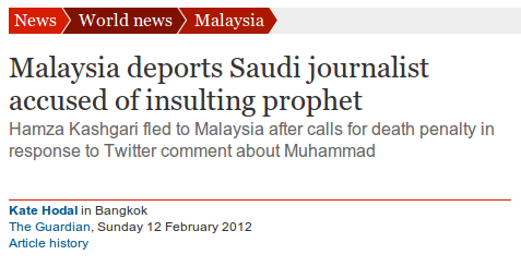 Malaysia deports Saudi journalist accused of insulting prophet