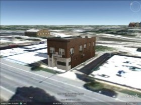 Digital model of 212 S First St in Champaign Illinois