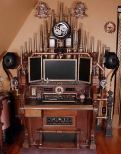Victorian computer command center organ cockpit desk thingy