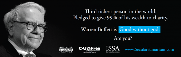 Warren Buffet Secular Samaritan Ad