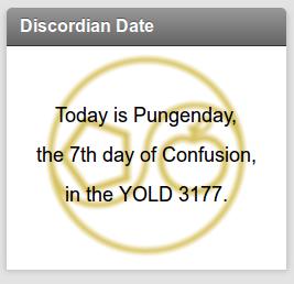 Discordian Date Widget Plugin Image
