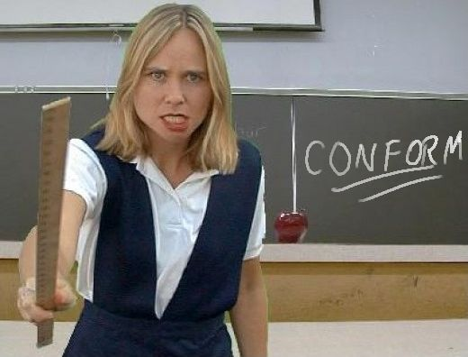 Angry teacher photo: CONFORM