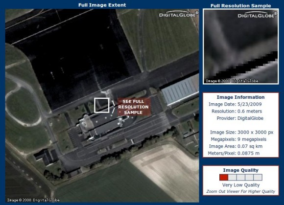 Reims Air Base via Terraserver