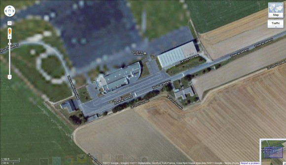 Reims Air Base via Google Maps