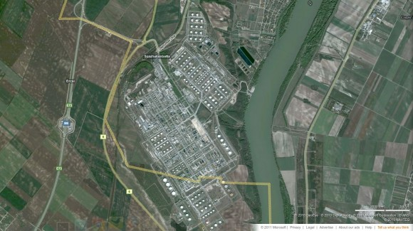 Szazhalombatta Oil via bing Maps
