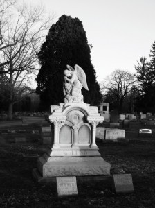 Photograph of McLeod monument at Woodlawn Cemetery