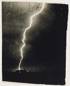 Lightning photo by William Jennings c. 1882